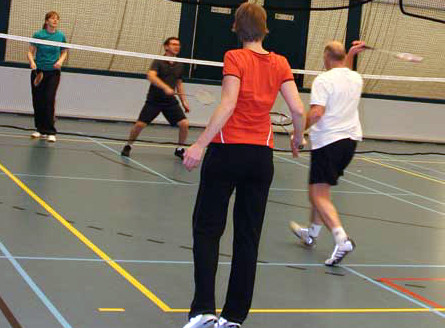  Go from flab to fab with Evening Badminton.