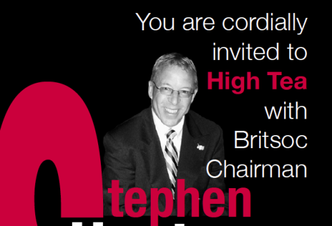 Queen's Birthday High Tea Invitation from Britsoc Chairman