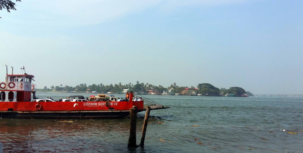 Cochin Ferry Terminal, view from Brunton Yard Hotel
